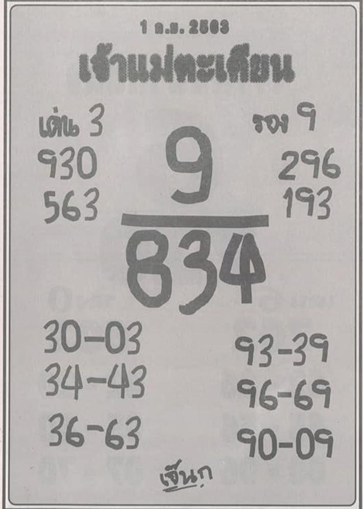 Lottery goddess Takian 1-9-63