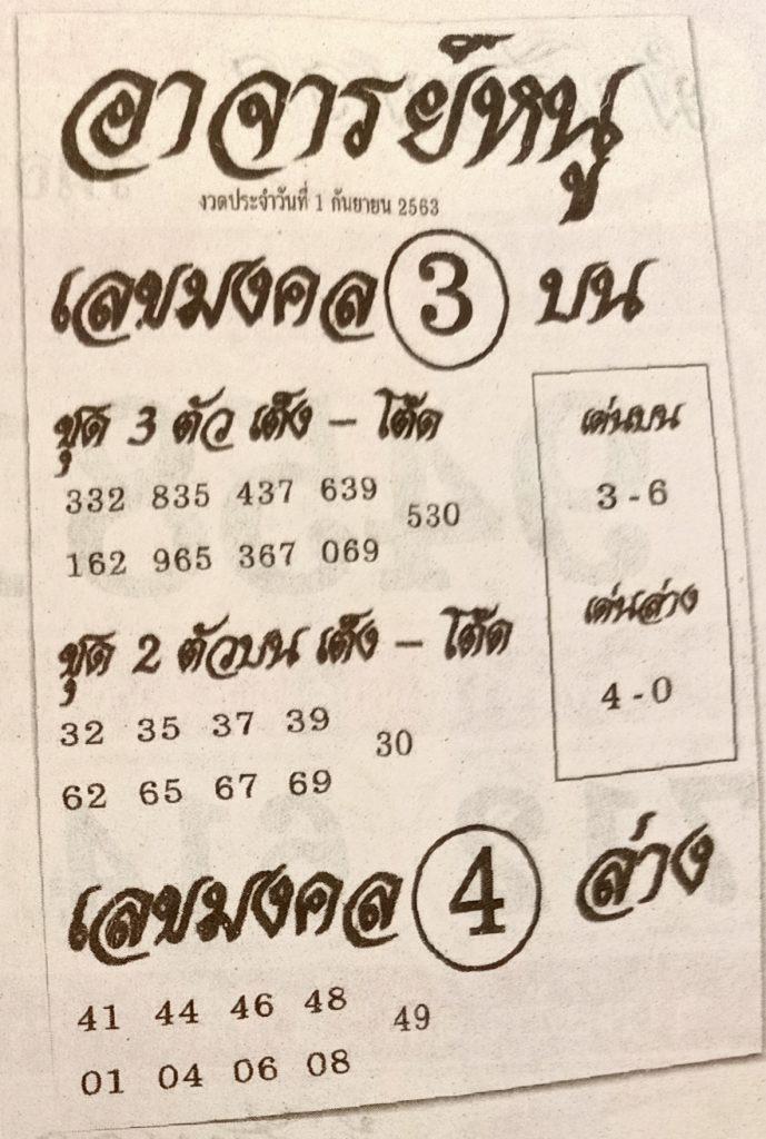 Lottery Master Nu 1-9-63