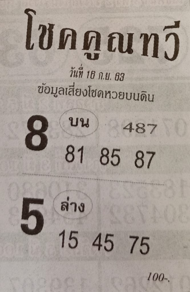 Lucky number, luck, multiplication, 16-9-63